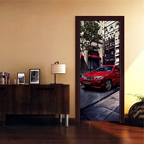 Deurschildering Trappen 3D Koele Auto Styling Fotobehang Huis Woonkamer Muurschildering Inclusief Plakken, Woondecoratie - Muurstickers, Verwijderbare Waterdichte Vinyl Stickers