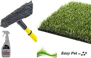 Fuze Cepillo Limpiador de césped Artificial para Mascotas, Escoba y espray de Hierba Falsa para Perros, Gatos, cacerolas y Perros, para Eliminar olores y orina