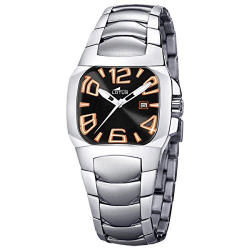 Lotus L15505–1–Reloj de Pulsera de Mujer, Correa de Acero Inoxidable Color Plata