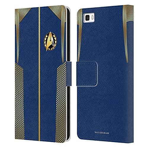 Head Case Designs sous Licence Officielle Star Trek Discovery Amiral Uniformes Coque en Cuir à Portefeuille Compatible avec Huawei P8lite / ALE-L21