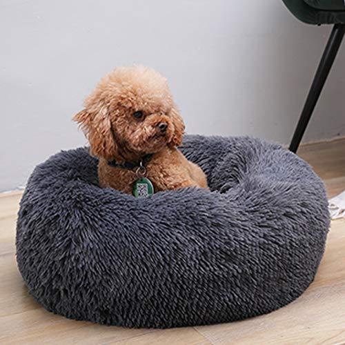 zyeziwhs Beruhigendes Hundebett, rund, flauschig, luxuriös, ultraweich,...
