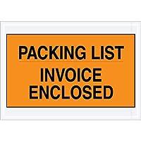 Aviditi PL419 Envelope Packing List/Invoice Enclosed , 7 Length x 10 Width, Orange (Case of 1000) by Aviditi
