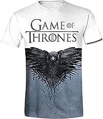 Camiseta Game Of Thrones Crow (Blanco)