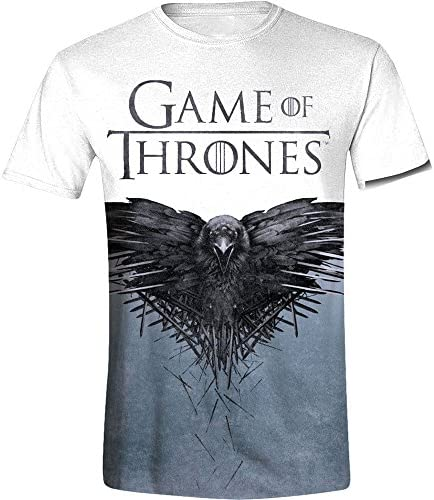 Camiseta Game Of Thrones Crow (Blanco)