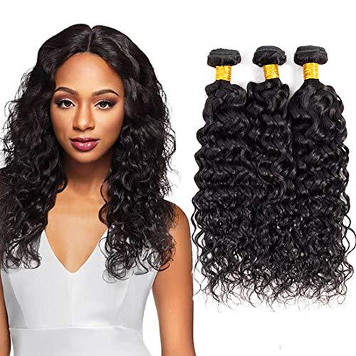 8A Water Wave Bundles 10 12 14 inch Brazilian Wet and Wavy Human Hair Weave Bundles Water Curly Hair 3 Bundles 1B# color