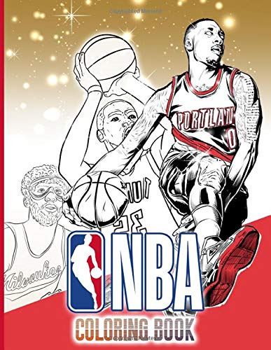 Nba Coloring Book: Stunning Coloring Books For Kid And Adult Designed To Relax And Calm