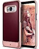 Caseology Fairmont for Galaxy S8 Plus Case (2017) - Premium Leather - Burgundy