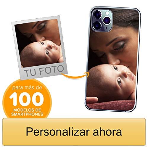 Funda Personalizada para Apple iPhone 11 Pro MAX con tu Foto, Imagen o Escritura - Estuche Suave de Gel TPU Transparente - Impresión