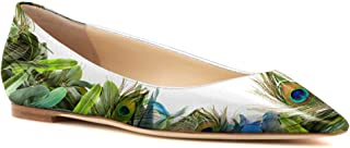 Womens Comfort Printing Pleather Ballet Flat Shoes