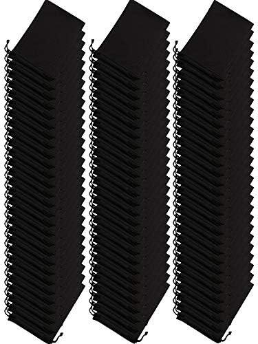 100 Pieces Microfiber Case Pouch Bag Glasses Sunglasses Case with 2 Pieces Cloth Black product image