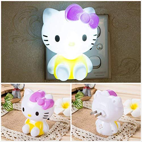 SKYLULU Nachtlampe Hello Kitty Led Nachtlicht Cartoon Geschenke für Kinder/Baby/Kinder Schlafzimmer Nachttischlampe 2St