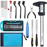 KEESIN 35 Stück 3D Drucker Tool Kit, Einschließlich Debur Tool, Reinigungs und Entfernungswerkzeug mit Aufbewahrungstasche, 3D Drucker Zubehör Set