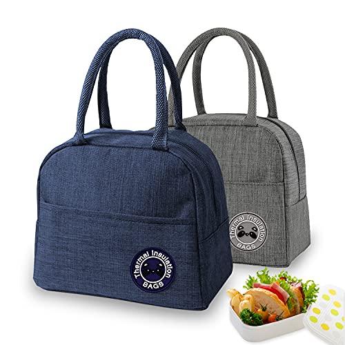 Lot de 2 sacs isothermes pliables et étanches - Pour le travail, l'école et les déplacements