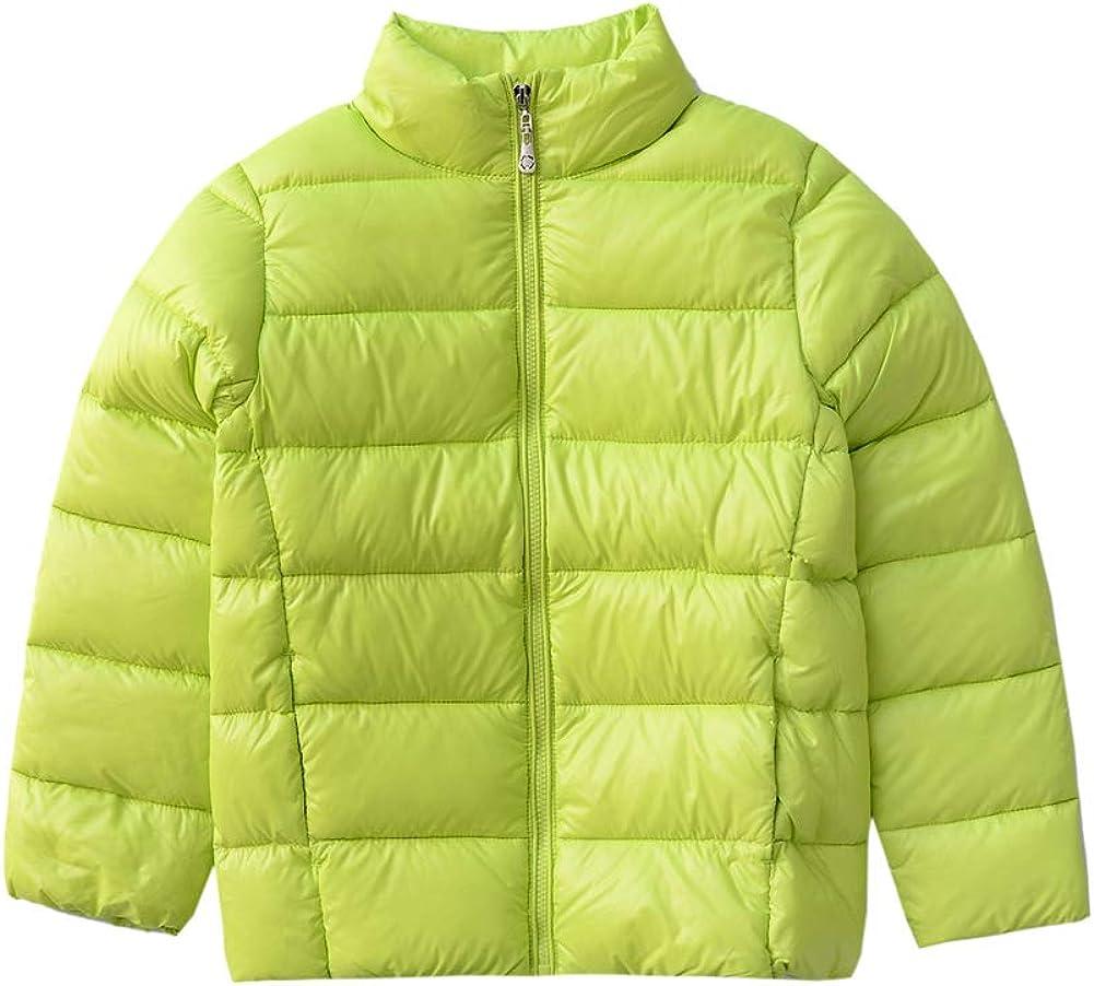 C2M Boys Girls Stand Collar Lightweight Packable Down Jacket
