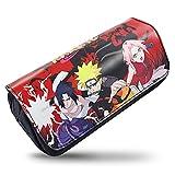 Naruto Estuche Escolar, CBOSNF Estuche de Lápices Naruto Estuches Bolsa Almacenamiento Estuche Organizador de Material Papelería con Cremallera para Artículos de Papelería Estudiante en Portable
