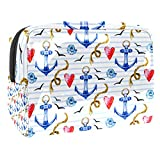 Cosmetic Bag for Women,Roomy Makeup Bags,Rope & Anchor,Travel Waterproof Toiletry Bag Accessories Organizer