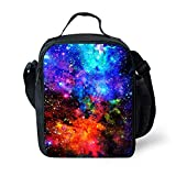 CAIWEI Galaxy Lunch Bag Insulated Lunch Box Cooler Bag (Starry sky)