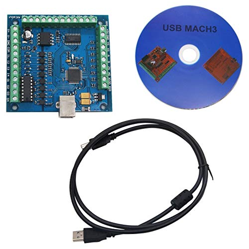 Naliovker CNC MACH3 USB 4 Achsen 100KHz USBCNC Smooth Stepper Motion Controller Karte Breakout Board für CNC Gravur 12-24V