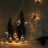 Lichterkette 2 Meter 10 Licht Batterie LED Weihnachtsschnur Schneemann Lichterketten Outdoor Indoor Weihnachtsbaum Party, Garten, Weihnachten, Halloween, Hochzeit, Beleuchtung Deko