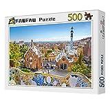 FAWFAW Puzzles 500 Piezas, Vista De Barcelona Desde El Parque Güell 1500/1000/500/300 Piezas