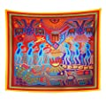 Semtomn Tapestry Artwork Wall Hanging Voodoo Huichol Shaman Ritual Witchcraft Medicine Man Mexican Magik 50x60 Inches Home Decor Tapestries Mattress Tablecloth Curtain Print