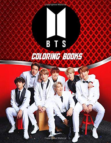 Bts Coloring Books: Best Hand-drawn KPOP Coloring Book Pages of BTS for Stress Relief and Meditations For 2020.. A Great Coloring Book For any Child or Adult who is into Coloring Books and KPop