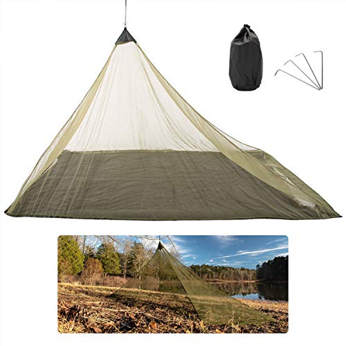 ORYX Outdoor Camping Mosquito Net for Mesh Tent, Bug Net Pop Up Mosquito Tent for Bed Cot, Mosquito Netting for Patio 93''x54''x51''(Army Green)