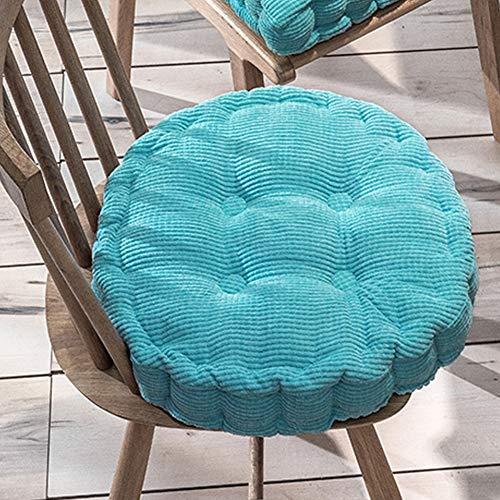 Xpnit Sitzkissen für Stuhl, quadratisch, rund, 10 cm dick, 40 x 40 x 8 cm, Himmelblau