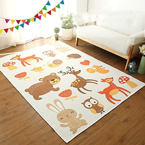 CHENG Kinderteppich Spielteppich Babyteppich Cartoon Tier Kinderzimmer...