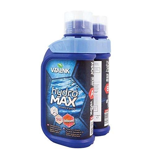 VitaLink 05-201-540 Hydro MAX Bloom Agua Dulce Alimentación Eléctrica, 1L