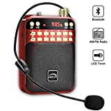 AMZLIFE Personal AM FM Portable Radio Bluetooth Speaker & TF...