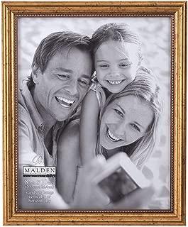 Malden International Designs Classic Wood Picture Frame, 8x10, Gold