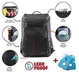 Lovotex Kühlerrucksack mit großer Kapazität für Männer und Frauen, isolierter Kühlrucksack für Camping, Picknick, Wandern, passend für 30 Dosen