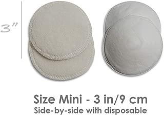 LANACare Organic Merino Wool Nursing Pads, Super Soft and Soothing, Style Softline, Size Mini - 3 inch