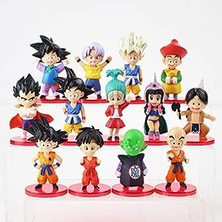 13Pcs/Lot Z Figures Son Goten Vegeta Trunks Bulma Pan Chichi Piccolo Krillin Anime DBZ Model Toys Must Have Baby Items 5 Year Old Boy Gifts Toddler Favourite 4T Superhero
