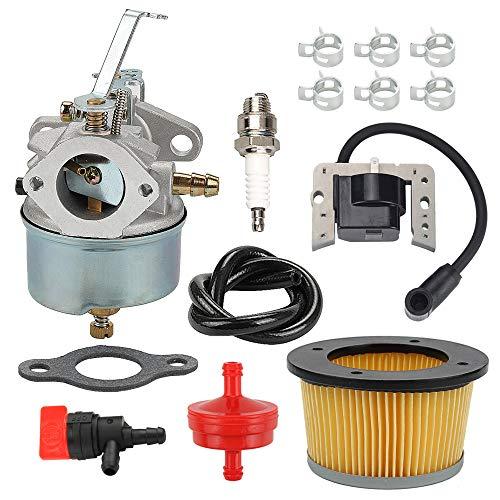 ATVATP 632230 Carburetor for Tecumseh 632272 Carburetor H30 H50 H60 HH60 HH70 5HP 6HP 4 Cycle Snowblower & 30727 Air Filter 34443 Ignition Coil