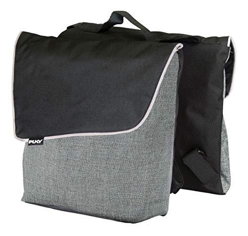 Puky DT 3 Kinder Fahrrad Gepäckträgertasche/Doppeltasche grau/schwarz