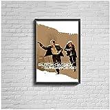 Vspgyf Butch Cassidy and The Sundance Kid Movie Poster (1969) Impresión de Lienzo Pintura de Pared para el hogar Decoración -50x70cmx1pcs -Sin Marco