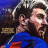 Burning Desire Poster Lionel Messi, 30,5 x 45,7 cm