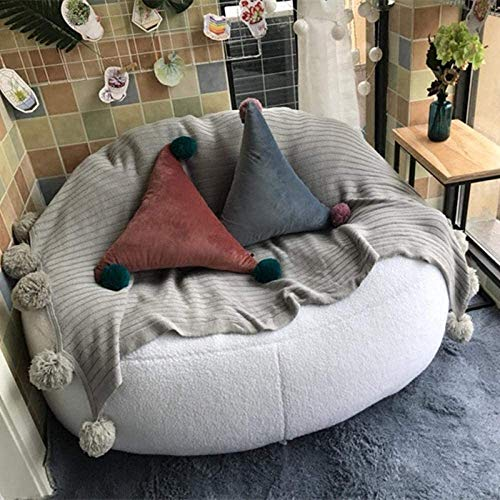 Comfortabel Zhuyue Lamb Velvet zitzak bedden Lazy Seat Computer Stoel Bean Bag Lounger Living Room Furniture Sofa Stoelen 2 Size-1