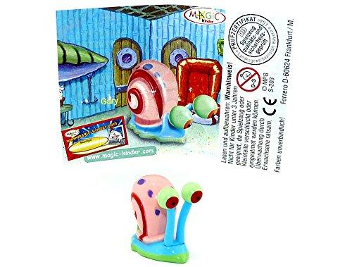 Kinder Überraschung Gary mit Deutschen Beipackzettel (Spongebob)