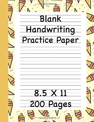 Blank Handwriting Practice Paper 200 Pages: Dotted Line Workbook for Kids and Students Educational Resource