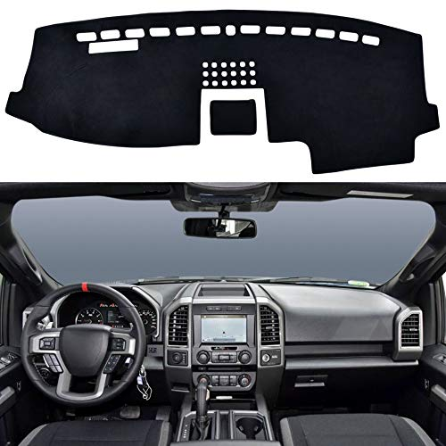 SPEEDWOW Dashboard Dash Board Cover Mat Carpet Compatible with 2015-2020 FORD F150