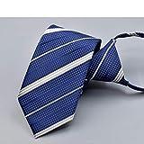 GYYCY Corbata Formal De 7 Cm para Hombres, Hombres Y Mujeres De Negocios, Cremallera, Raya Perezosa, Corbata Fácil De Tirar