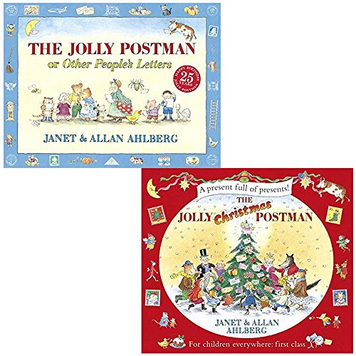 The Jolly Postman & The Jolly Christmas Postman By Allan Ahlberg and Janet Ahlberg 2 Books Collection Set