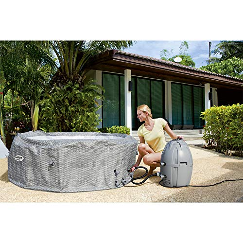 Bestway 54295 SaluSpa AirJet 6 Person Honolulu Inflatable Outdoor Portable Hot Tub Spa with Cover, Pump, and Filter