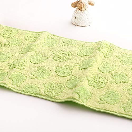 25x50cmFibra de bambú y Toalla de algodón para niños sin torsión Toalla de Mano al por Mayor Limpieza del hogar Cara para bebés para niños Azul, 25x50cm