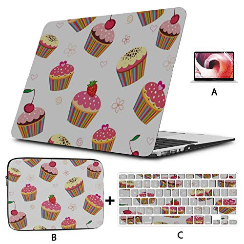 Funda para portátil Cake Delicious Snacks Modelo Funda Macbook Pro Hard Shell Mac Air 11'/ 13' Pro 13'/ 15' / 16'con Funda para portátil para Macbook Versión 2008-2020