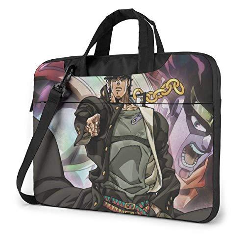 15.6 inch Laptop Shoulder Briefcase Messenger JoJo's Bizarre Adventure Anime Tablet Bussiness Carrying Handbag Case Sleeve