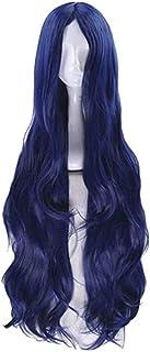 DOUJIONG Anime Shirogane Tsumugi Cosplay Wig Long Deep Blue Hair Halloween (One Size, Shirogane Tsumugi)